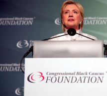 At the Congressional Black Caucus dinner, Clinton calls on America to choose progress over prejudice