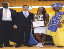 Miami Northwestern Senior High alumna and Olympian Brianna Rollins was honored