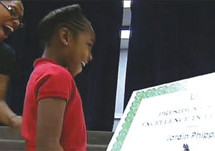 Eight- year-old girl becomes youngest person ever to receive a scholarship to University of North Texas