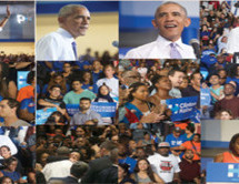 Obama rallies voters to vote for Secretary Hillary Clinton