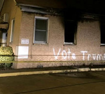 Racists burned and vandalized this Black church with 'Vote Trump'