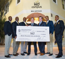Alpha Phi Alpha Fraternity donates $11,000 to KID, Inc.
