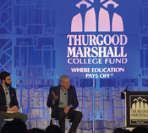 HBCU students speak with Charles Koch during Thurgood Marshall College Fund