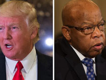 What about Trump's apology to Civil Rights Icon John Lewis before Inauguration?