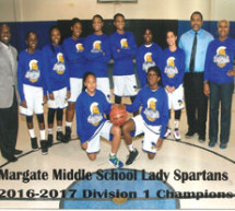 Margate Middle School Lady Spartans basketball team captures 2016 divisional title