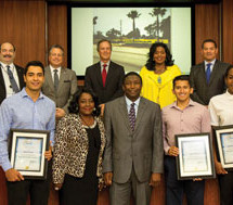 Commissioner Holness recognizes volunteers for 'Paint the Town Blue' Day