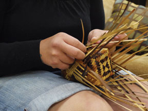 Cherokee-Basket-Weaving