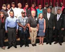 Congresswoman Debbie Wasserman Schultz held a ceremony honoring African American Veteran for their service to our country