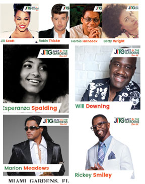 Twelfth Annual Jazz In The Gardens Music Festival Announces 2017 Lineup With Jill Scott Ll Cool