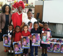 School Board Member Dr. Dorothy Bendross-Mindingall honored Zoe Terry of Zoe's Dolls and female community leaders for Women's History Month in March 2017