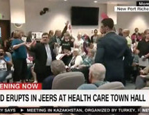 Town hall erupts in jeers after GOP official lies about ACA 'death panels' Constituents weren't having it.