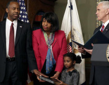 Ben Carson sworn-in as Trump's only Black cabinet pick