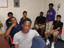 Boys at DeSoto East Middle School tapping into their inner-greatness through daily mentoring
