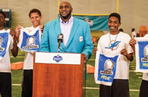 Miami Dolphins celebrate Youth Football in South with announcement of day three draft picks from the Baptist Health Training Facility at Nova Southeastern University