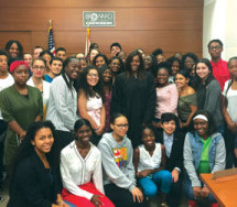 Judge Barner spends time with students