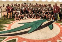 Miami Dolphins host Miami Norland Senior High School Football Team at OTA practice