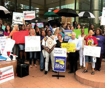 SEIU members and community advocates showed up in force