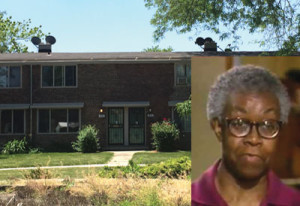 Poet Gwendolyn Brooks (inset) lived in Chicago's Ivy Park Homes, formerly known as the Princeton Park housing project, when she won the Pulitzer Prize in 1950.                      (Erick Johnson/Chicago Crusader)