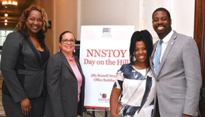 L to r: Dr. Melissa Collins, Dr. Elizabeth Primas, Dr. LeAnn Stephens and Josh Parker at the NNSTOY conference in Washington, D.C. (Travis Riddick/NNPA)
