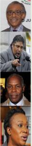 Pictured Rev. Al Sharpton, Rev. Dr. William J Barber, Actor/Activist Danny Glover, and MSNBC Host Joy Reid.