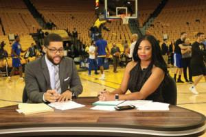 Jemele Hill and co-host Michael Smith (ESPN).