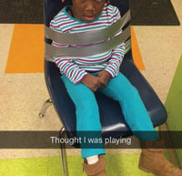 Four-year-old duct taped to chair while at daycare; teacher snapchats photos