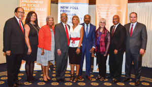 NNPA President and CEO Benjamin F. Chavis, Jr. (far left) and NNPA Chairman Dorothy Leavell (3rd from left) joined researchers from Howard University and Pfizer officials to release a new poll on sickle cell disease at the National Press Club in Washington, D.C. (Freddie Allen/AMG/NNPA)