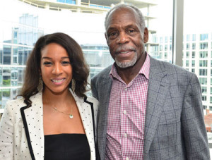Janaye Ingram, the director of national partnerships for Airbnb (left), and actor and humanitarian Danny Glover want to educate Blacks about the economic benefits of hosting on Airbnb. (Freddie Allen/AMG/NNPA)