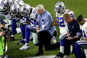 Jerry Jones' kneeling before the anthem had nothing to do with athletes' concerns.