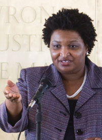 Georgia state house minority leader Stacey Abrams is running to become America's first Black female governor.                                                                (Wikimedia Commons)