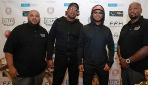 L to r: Blademil Gullon, Master P, Romeo Miller and Marco Mall.                 (Photo by Ido Eyo)