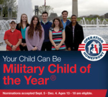 Deadline to apply for 2018 Military Child of the Year® Award is December 4 military youth 13-18 eligible to receive $10,000