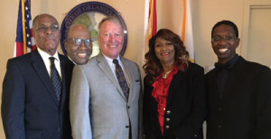 Members of FABOM and Orlando Mayor Buddy Dyer (third from left)