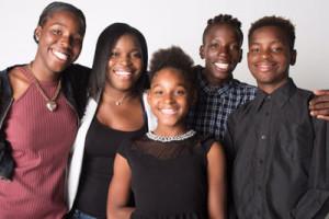 Brown and her siblings.