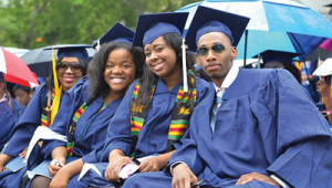 According to the UNCF report, Howard University generates $1.5 billion in total economic impact for its local and regional economies. In this 2013 photo, Howard graduates participate in commencement activities. (Freddie Allen/AMG/NNPA)