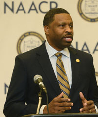 The NAACP announced plans to change their tax status, shortly after an-nouncing that Derrick Johnson would become the group's new president.