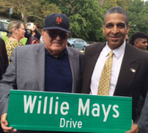 This baseball player got honored by the city after renaming a street in Harlem after Him