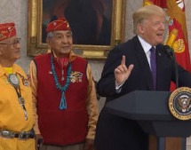 At a Navajo veterans' event, Trump makes 'Pocahontas' crack