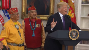 After Trump finished-His-Speech-The-Navajo-Code-Talker-Veteran-Had-Just-One-Last-Thing-to-Say-to-Him
