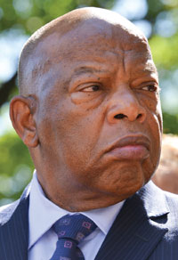 Civil rights icon Rep. John Lewis (D-Ga.) (pictured) and Rep. Bennie Thompson (D-Miss.) declined invitations to attend the Mississippi Civil Rights Museum dedication ceremony, when they learned that President Donald Trump was also invited. This photo was taken during a Congressional Black Caucus press conference on police brutality at the Department of Justice in Washington, D.C. in 2016. (Freddie Allen/AMG/NNPA)