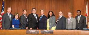 L to r:  Commissioner Tim Ryan, Commissioner Nan Rich, Commissioner Michael Udine, Vice Mayor Mark D. Bogen, Mayor Beam Furr, Commissioner Barbara Sharief, Commissioner Steve Geller, Commissioner Chip LaMarca, and Commissioner Dale V.C. Holness.