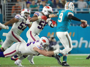 Miami Dolphins 3rd string QB David Fales started the Dolphins final game of the season. (Internet Photos)