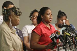 Erica Garner speaking