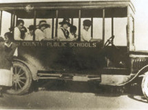 A model T Ford was used to ferry white children to Broward County schools