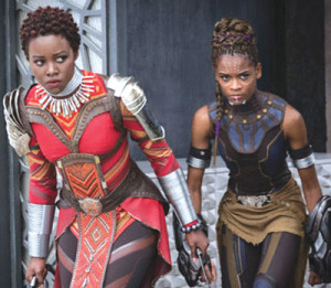 "Lupita Nyong'o (l) and Letitia Wright star in ""Black Panther.""                                                                       (Marvel)"