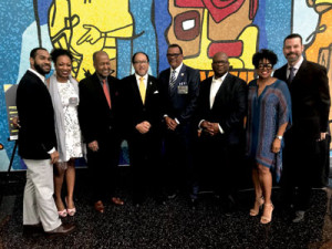 Panel members along with Dr. Ben Chavis, President of the NNPA (fourth from the left).