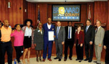 Philanthropist and Florida Lottery Winner Honored by Broward County Commission