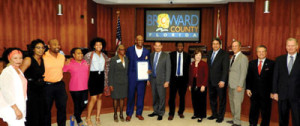 ­­Friends and family join Broward Commissioners to celebrate Miguel Pilgram Day­­February 8, 2018 .