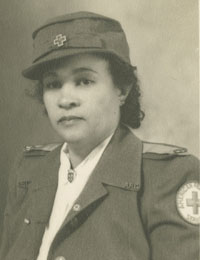 Photograph of Frances Albrier wearing a Red Cross uniform, 1942. (Photo: Collection of the National Museum of African American History and Culture Frances Albrier Collection, 2010.60.10.001.)