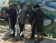 "Elected officials and residents celebrate open-air development at ""The Urban"" Groundbreaking Ceremony in Overtown"
